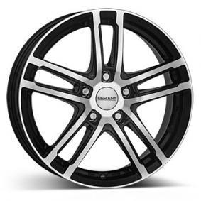 alloy wheel DEZENT TZ dark mattschwarz Front poliert 15 inches 4x98 PCD ET35 TTZK1BP35E