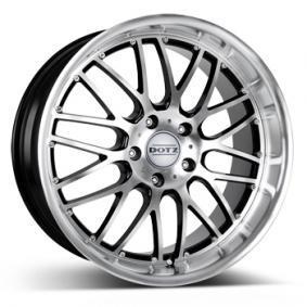 alloy wheel DOTZ Mugello matt black front polished 15 inches 5x114.3 PCD ET35 OMUL0BP35