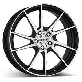 alloy wheel DOTZ Kendo mattschwarz Front poliert 16 inches 5x100 PCD ET35 OKEP6BP35