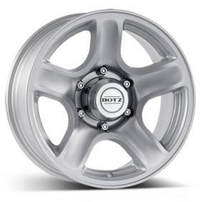 alloy wheel DOTZ Hammada brilliant silver painted 16 inches 6x139.7 PCD ET20 OHMQDSA20