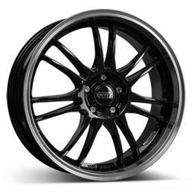 alloy wheel DOTZ Shift black polished lip 15 inches 4x100 PCD ET38 OSIL2BL38