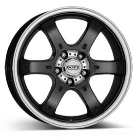 alloy wheel DOTZ Crunch black front polished 16 inches 6x114.3 PCD ET30 OCRQKBP30