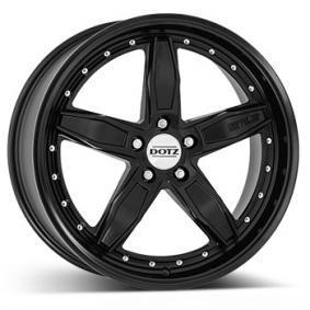 alloy wheel DOTZ SP5 black edt. matt black polished lip 18 inches 5x120 PCD ET35 OSPG9KA35