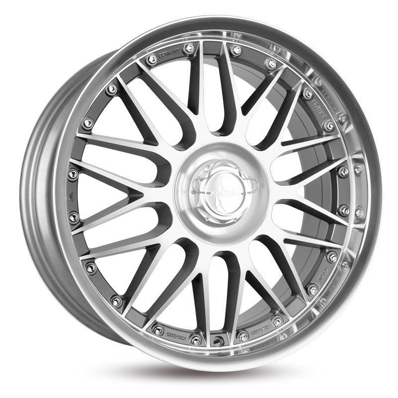 KESKIN KT4 New Racer mattschwarz Front Horn poliert alloy wheel 10xR22 PCD 5x120 ET40 d74.10