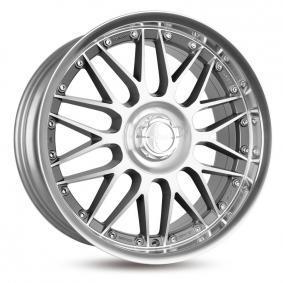 lichtmetalen velg KESKIN KT4 New Racer hyper silber schwarz Horn poliert 18 inches 5x100 PCD ET25 KT49518510011225BLP
