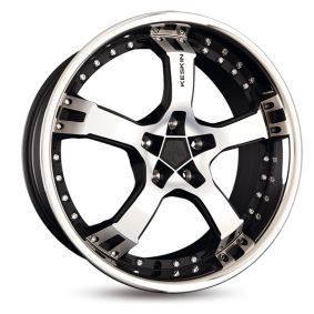 alloy wheel KESKIN KT10 Humerus mattschwarz Front Horn poliert 18 inches 5x112 PCD ET40 KT109518511240MBFS