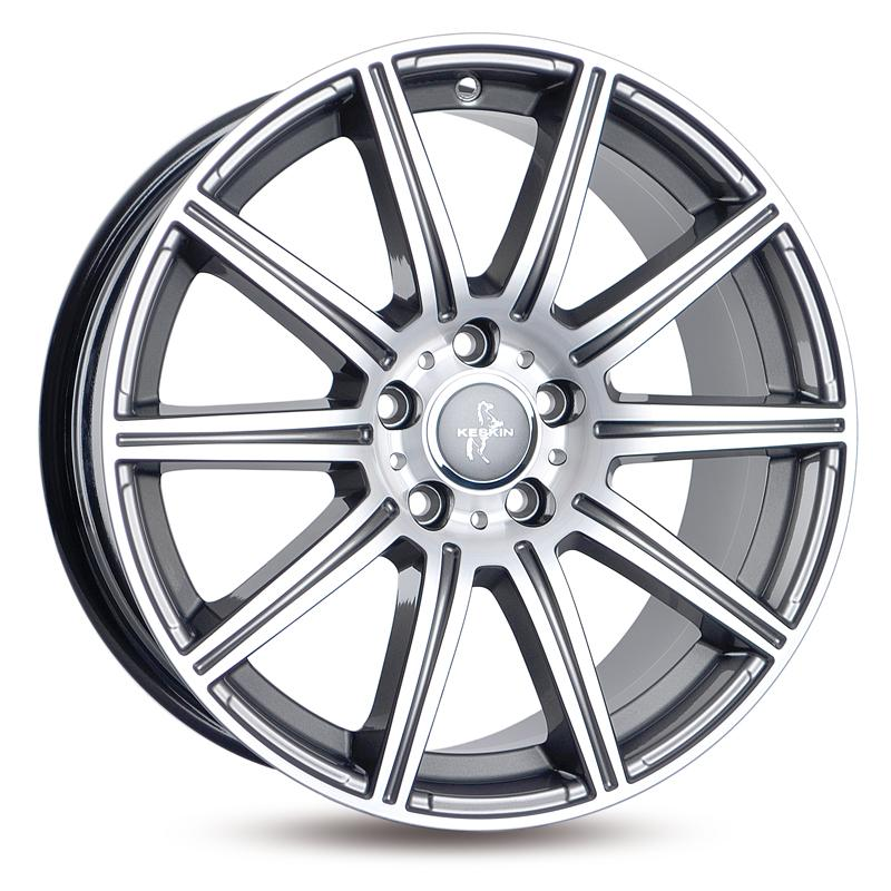 KESKIN KT16 Dynamic mattschwarz Front poliert алуминиеви джант 8xR18 PCD 5x112 ET30 d66.60