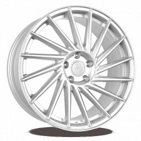 alloy wheel KESKIN KT17 Hurricane brilliant silver painted 22 inches 5x112 PCD ET20 KT171022511220CS