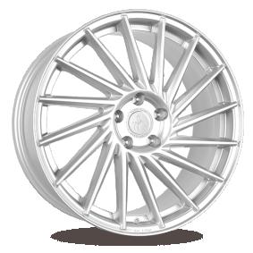 alloy wheel KESKIN KT17 Hurricane silber Front poliert 20 inches 5x130 PCD ET50 KT179020513050SFP