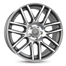 alloy wheel KESKIN KT14 CONCAVE mattschwarz Horn poliert 19 inches 5x112 PCD ET30 KT148019511230MBLP