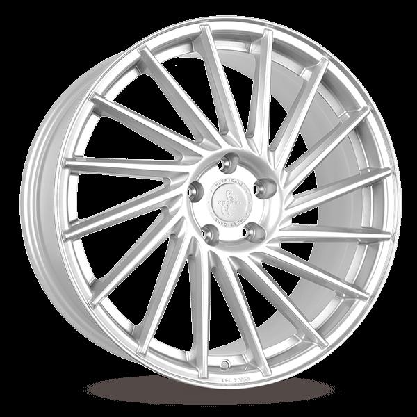 KESKIN KT17 Hurricane brilliant silver painted alloy wheel 10xR22 PCD 5x120 ET40 d74.10