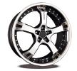 KESKIN KT10 Humerus, 18duim, mattschwarz Front Horn poliert, 5-gat, 120mm, lichtmetalen velg KT109518512035MBFS