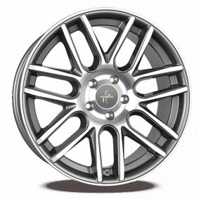 alloy wheel KESKIN KT14 CONCAVE mattschwarz Front Horn poliert 20 inches 5x112 PCD ET30 KT141120511230BFPSL