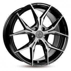 alloy wheel KESKIN KT19 Angel BLACK FRONT POLISHED 18 inches 5x112 PCD ET45 KT198018511245BFP