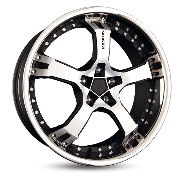 KESKIN KT10 Humerus hyper silber schwarz Horn poliert alloy wheel 9.5xR19 PCD 5x100 ET25 d63.40