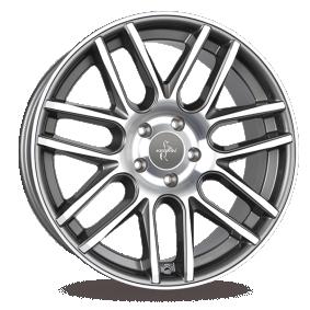alloy wheel KESKIN KT14 Concave mattschwarz Front Horn poliert 20 inches 5x120 PCD ET20 KT141020512020BFPSL