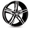 MAM A1, 19in, mattschwarz Front poliert, 5Taladro(s), 112mm, llanta de aleación MAMA18019511242BFP