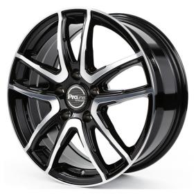 alloy wheel PROLINE PXV mattschwarz Front poliert 15 inches 4x98 PCD ET35 03916500