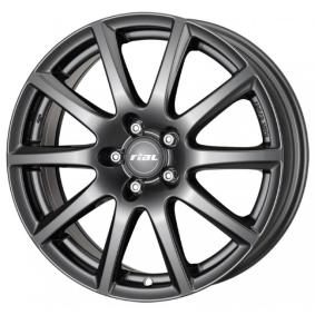 lichtmetalen velg RIAL Milano mat zwart titanium lip 15 inches 5x112 PCD ET47 MI60547V22-5