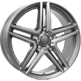 alloy wheel RIAL M10 gun-metal-grey 16 inches 5x112 PCD ET45.5 M10-75645M87-9