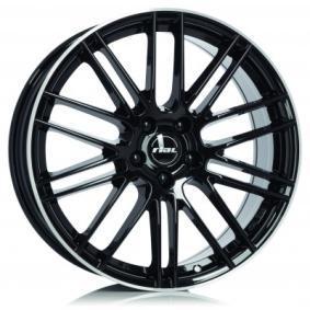 Alufelge RIAL Kibo hyper silber schwarz Horn poliert 18 Zoll 5x112 PCD ET42 KIB80842B73-2