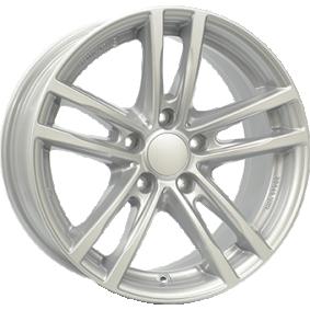 lichtmetalen velg RIAL X10 polar zilver 16 inches 5x112 PCD ET52 X10-70652W61-0