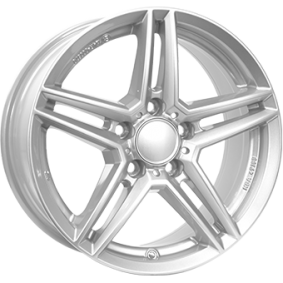 alufælg RIAL M10 polar sølv 16 inches 5x112 PCD ET49 M10-65649M81-0