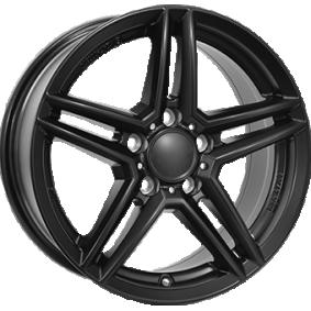 Alufelge RIAL M10 hyper silber schwarz Horn poliert 16 Zoll 5x112 PCD ET49 M10-65649M84-5