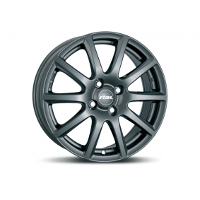 alloy wheel RIAL Milano matt black titanium lip 14 inches 5x100 PCD ET40 MI55440V72-5