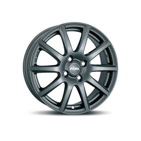 alloy wheel RIAL Milano matt black titanium lip 14 inches 5x100 PCD ET40 MI55440V72-5