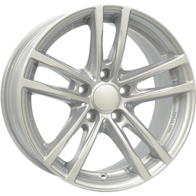 lichtmetalen velg RIAL X10 polar zilver 16 inches 5x120 PCD ET31 X10-70631W31-0