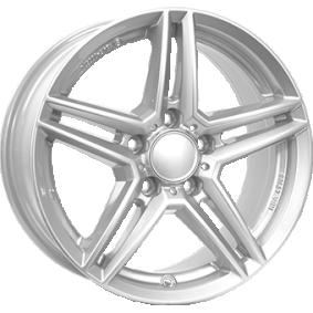 lichtmetalen velg RIAL M10 polar zilver 17 inches 5x112 PCD ET45 M10-75745M81-0