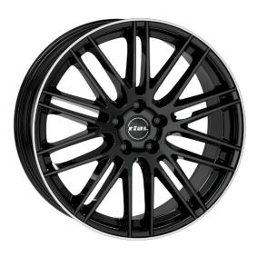 Alufelge RIAL Kibo hyper silber schwarz Horn poliert 18 Zoll 5x105 PCD ET38 KIB80838O83-2