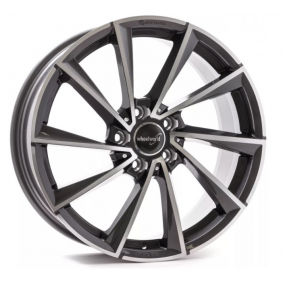 alloy wheel WHEELWORLD WH32 black front polished 18 inches 5x112 PCD ET48 16777