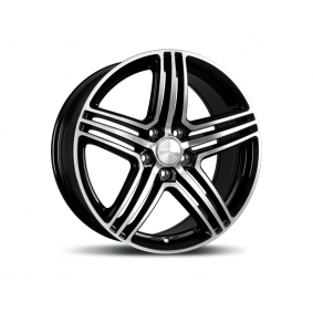 alloy wheel WHEELWORLD WH12 black front polished 17 inches 5x112 PCD ET35 10760