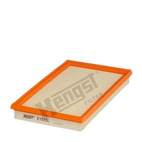 Légszűrő Hossz: 282,0mm, Szélesség: 169,0mm, Magasság: 32,0mm a OEM számok 13780-61M00