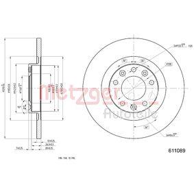 2012 Peugeot 3008 Mk1 1.6 THP Brake Disc 6110890