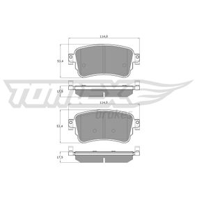 Brake Pad Set, disc brake Height: 53,4mm, Thickness: 17,5mm with OEM Number 1617936880