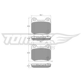 Bremsbelagsatz, Scheibenbremse TX 18-72 IMPREZA Schrägheck (GR, GH, G3) 2.5 WRX STI AWD (GRF) Bj 2013