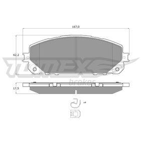 Bremsbelagsatz, Scheibenbremse Breite: 167mm, Höhe: 62,2mm, Dicke/Stärke: 17,5mm mit OEM-Nummer 6821 2327AB