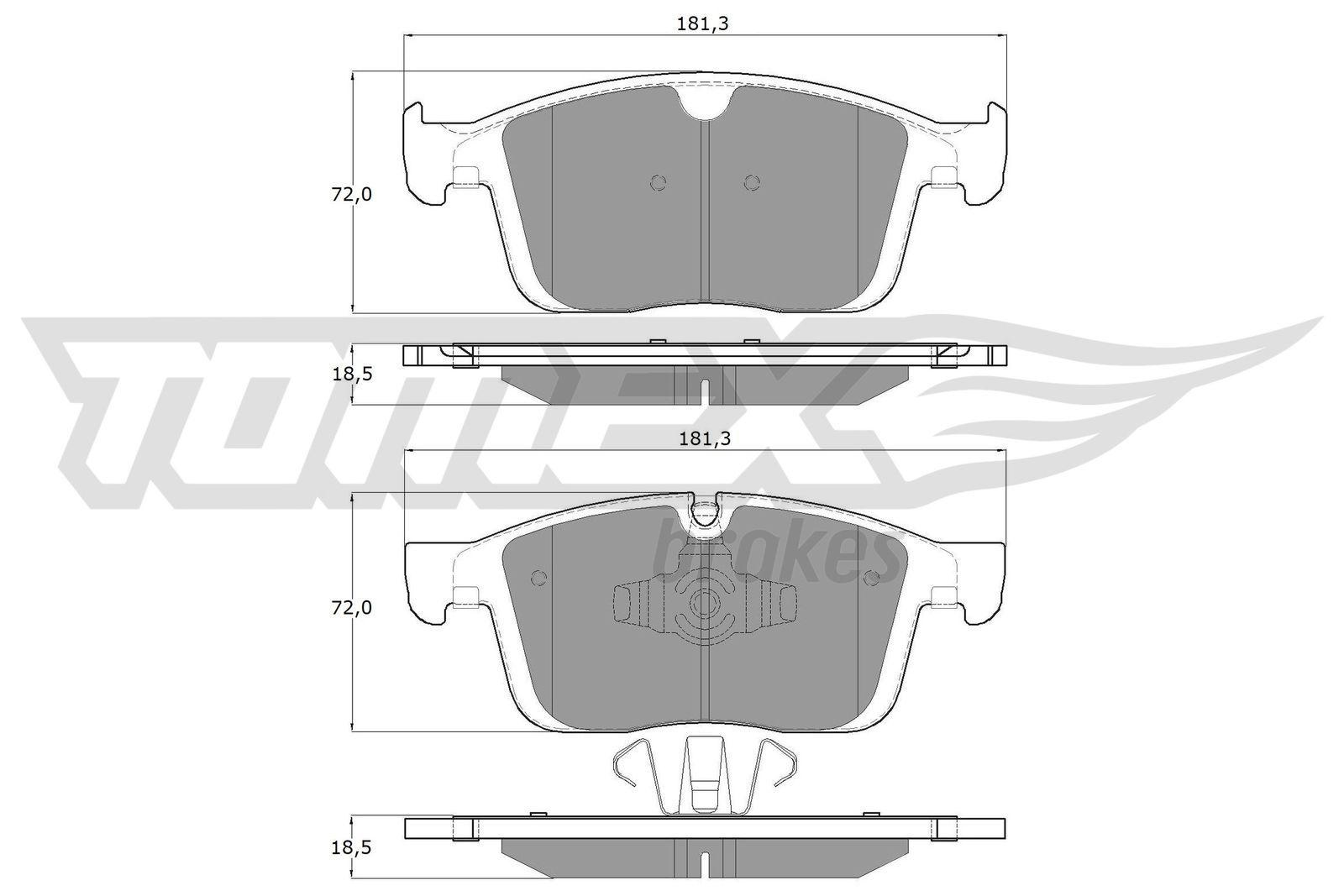 Bremsbeläge TX 18-85 TOMEX brakes 22387 in Original Qualität