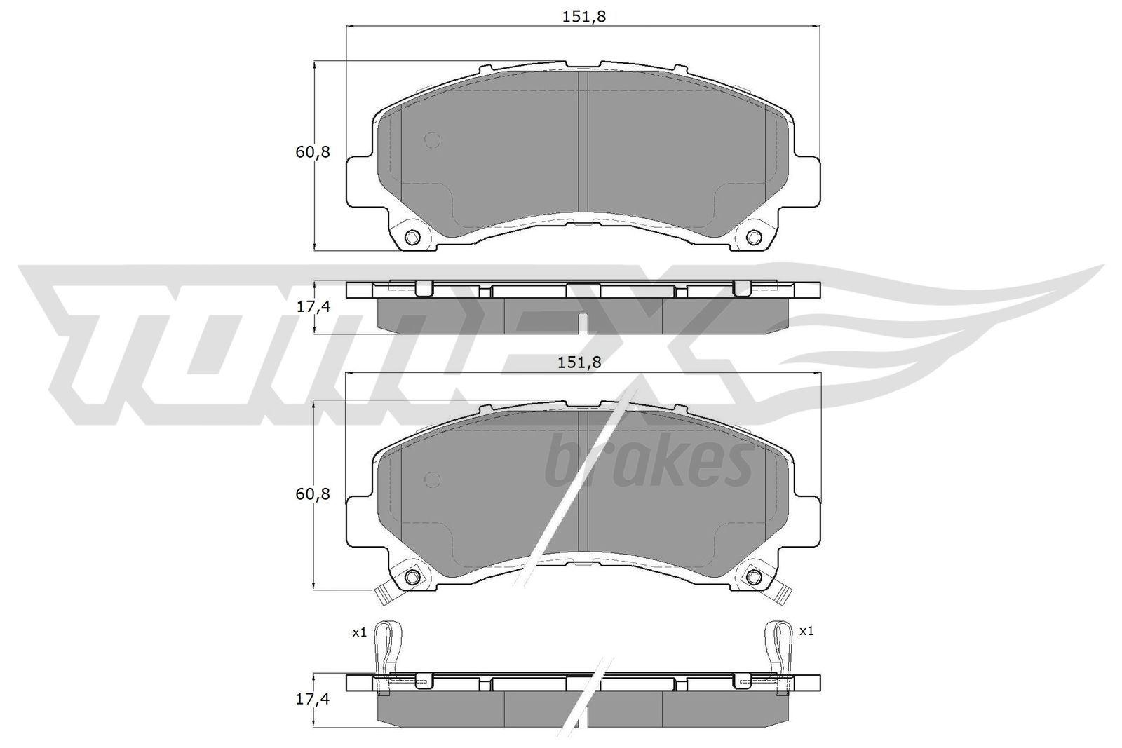 Bremsbeläge TX 19-00 TOMEX brakes 25151 in Original Qualität