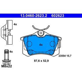 Bremsbelagsatz, Scheibenbremse Breite: 87,6mm, Höhe: 52,9mm, Dicke/Stärke: 15,7mm mit OEM-Nummer 16 168 726 80