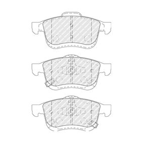 Bremsbelagsatz, Scheibenbremse Höhe 1: 71,5mm, Dicke/Stärke: 20,2mm mit OEM-Nummer 6 821 148 8AA
