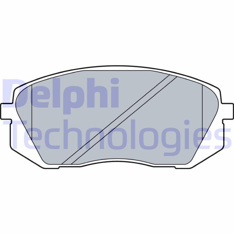 DELPHI  LP3535 Bremsbelagsatz, Scheibenbremse Höhe 2: 61mm, Höhe: 61mm, Dicke/Stärke 2: 18mm