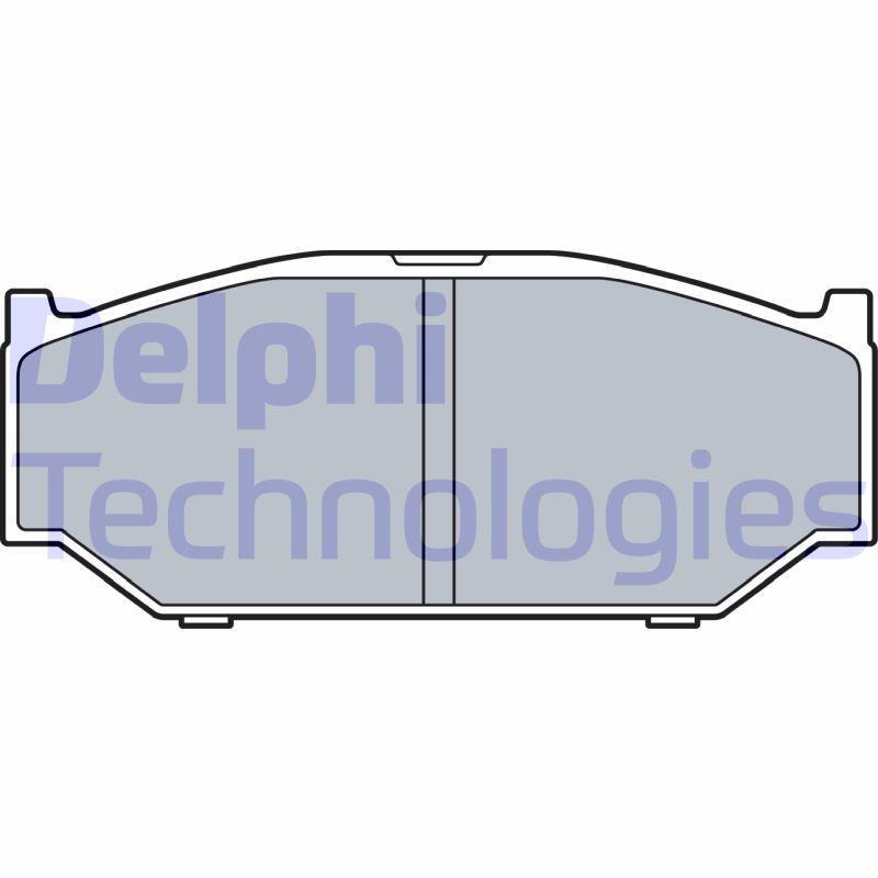 DELPHI  LP3544 Bremsbelagsatz, Scheibenbremse Höhe 2: 45mm, Höhe: 45mm, Dicke/Stärke 1: 16mm, Dicke/Stärke 2: 16mm