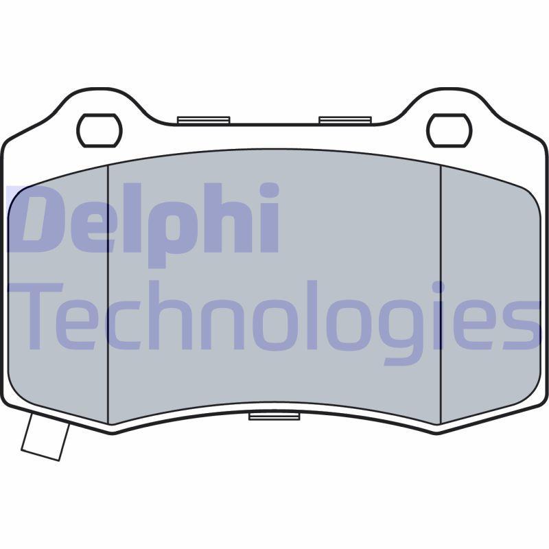 DELPHI  LP3547 Bremsbelagsatz, Scheibenbremse Höhe 2: 69mm, Höhe: 69mm, Dicke/Stärke 1: 15mm, Dicke/Stärke 2: 15mm