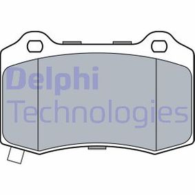 DELPHI  LP3547 Bremsbelagsatz, Scheibenbremse Höhe 2: 0mm, Höhe: 69mm, Dicke/Stärke 2: 15mm, Dicke/Stärke 2: 15,3mm