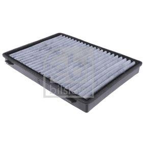 Filter, Innenraumluft Länge: 275,5mm, Breite: 207,0mm, Höhe: 26,5mm mit OEM-Nummer 95599725