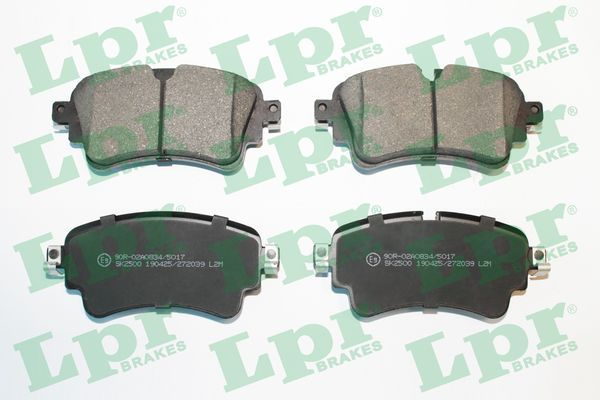 LPR  05P2039 Brake Pad Set, disc brake Width: 129,2mm, Height: 59mm, Thickness: 17,5mm